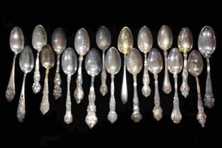 19 Souvenir Spoons - Misc States & Canada