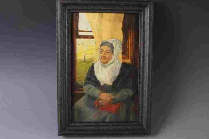 Oil Portrait Painting of Mature Woman