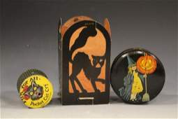 Halloween Die Cut Lantern, Tin Box & Cat Squeaker