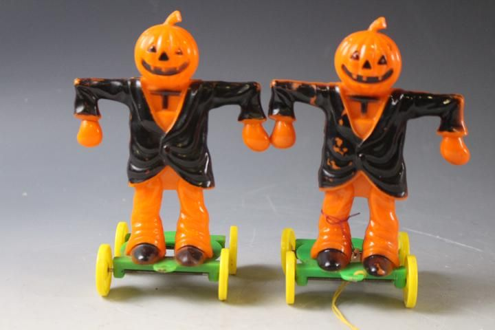 Halloween Hard Plastic Scarecrow Candy Containers