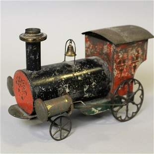 Early Tin Key-Wind Train Engine  Traveler
