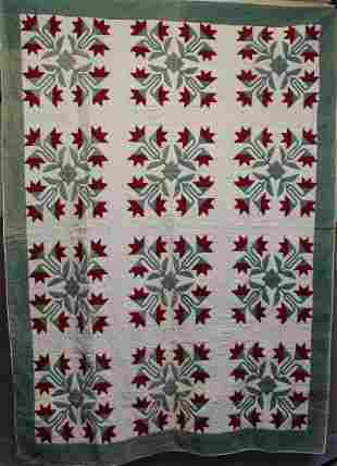 19th to Early 20th C Tulip Quilt