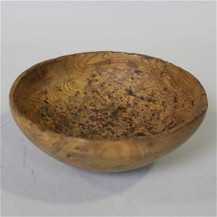 18th C Colonial Period C Small Burl Bowl