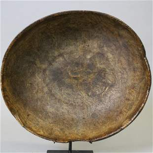 Colonial Period Oval Burl Bowl