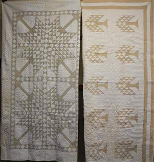 Lot of 2 Tree of Life Variant Quilts