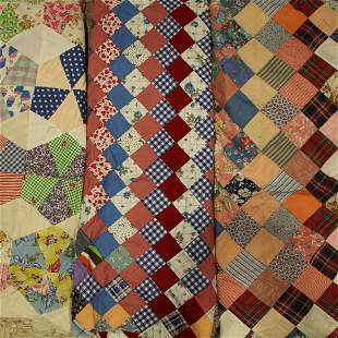 Trip Around the World & Pie Shaped Quilt Tops