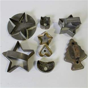 Group of Early Tin Cookie Cutters