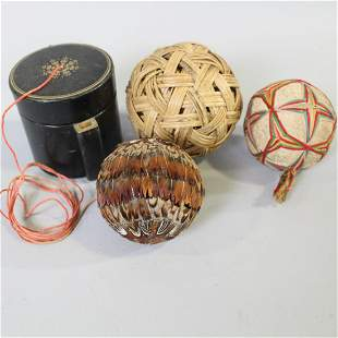 Round Ball Pincushions & String Holder