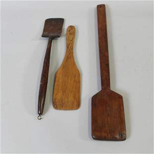 19-Early 20th C Wooden Paddles