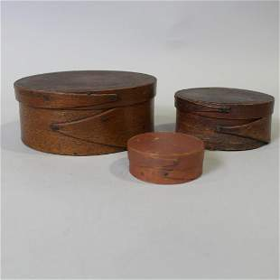 Small Round Bentwood Pantry Boxes