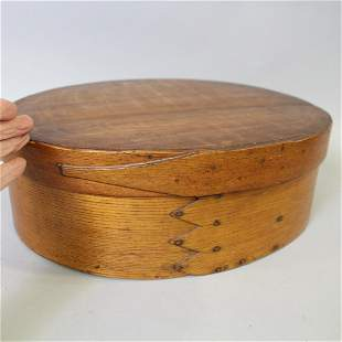 Large Oval Pantry Box Single Wide Finger Lap