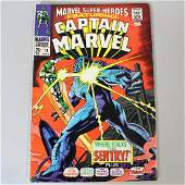 Captain Marvel Comic Book Published March 1969
