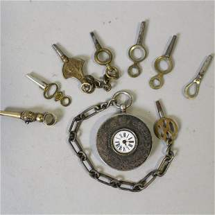 Silver Key Wind Pocket Watch