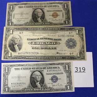 1914 Dollar Chicago, $1 Bill Hawaii 1935 A & Other