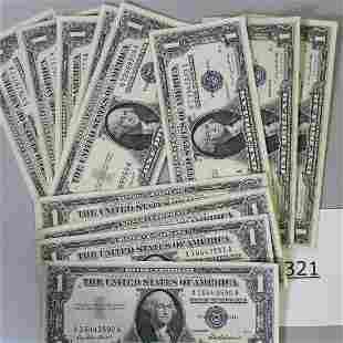 15 Uncirculated $1 Bills Group 1957