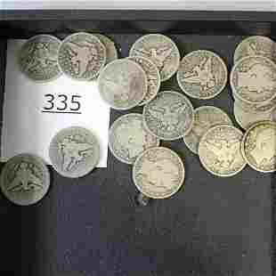 20 Silver Half Dollar Coins - 1895-1915
