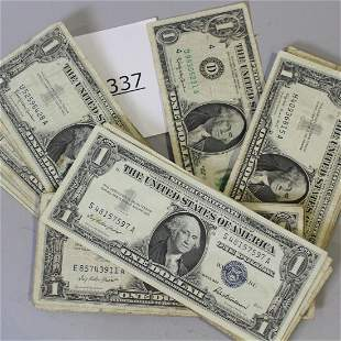 48 Silver Certificate Dollar Bills 1957 & 1963