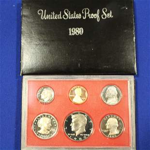 16 United States Proof Coin Sets 1980 - 1982