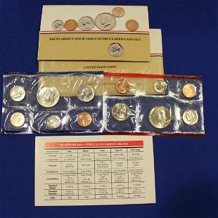 7 United States 1986 Proof Coin Sets D & F Marks