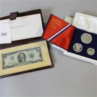 1776-1976-S Bicentennial Silver Proof Set & $2 Bill