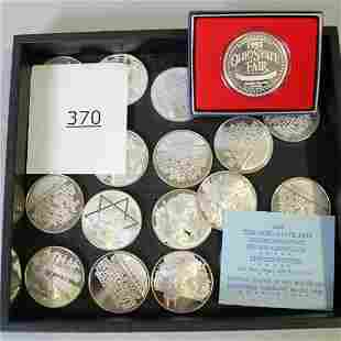 19 Sterling Commemorative Medallions