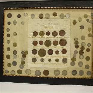 Framed Foreign Coins - Chinese 1875 - 1942
