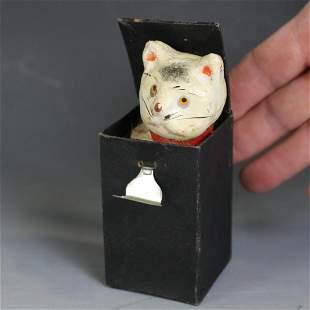 Halloween Cat Pop-Up Squeak Toy