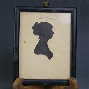 William King Portrait Silhouette of Sally Gardner