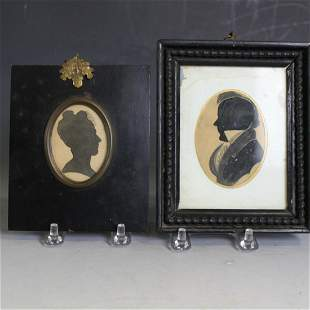Pair ID's Silhouettes of Man & Woman