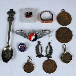 Group of Advertising Medals, Coins & Misc