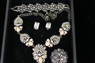 Nolan Miller Costume Jewelry Pink & Smoky Colors