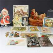 19th C Ephemera Lot Includes Mostly Christmas
