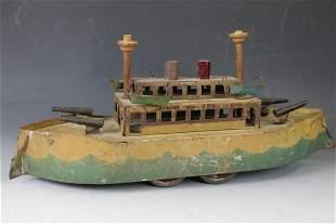 C1915 Dayton Hillclimber Gun Boat Toy