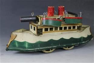 Early 20th C Dayton Hillclimber Gun Boat Toy