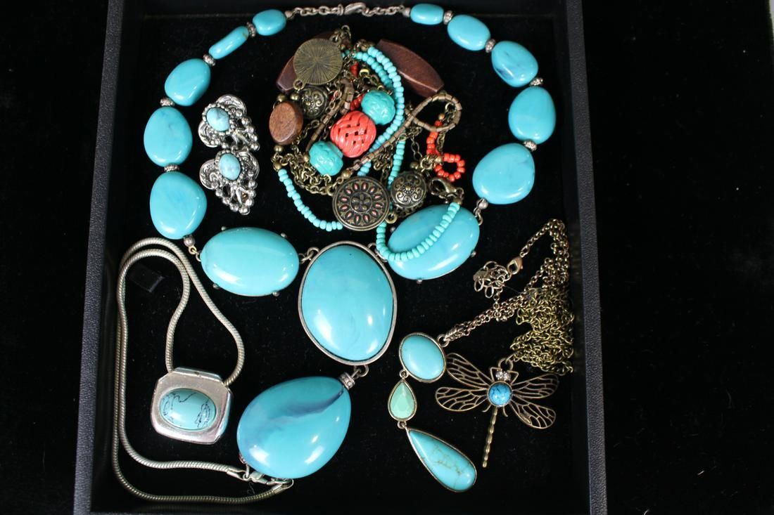 Vintage Costume Jewelry Faux Turquoise
