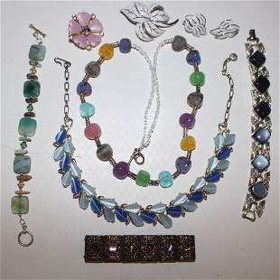 Vintage Costume Jewelry - Trifari, Monet & Coro