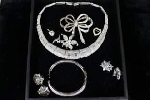 Vintage Costume Jewelry High Quality Rhinestones