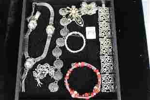Vintage Costume Jewelry - Silvertone