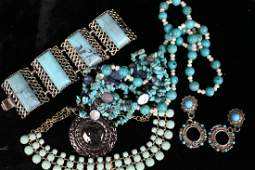 Vintage Costume Jewelry - Faux Turquoise