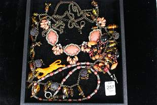 Vintage Costume Jewelry - Mostly Coral Tones