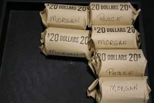 $120 FV Silver Dollars Misc Dates