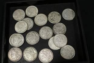 $18 FV Morgan Silver Dollars