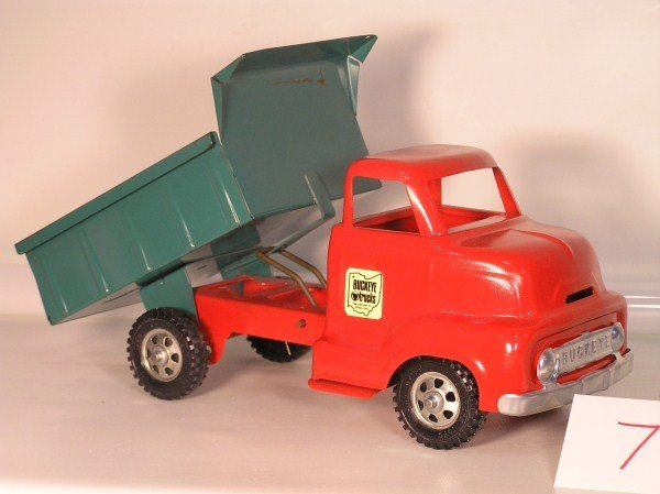 7: 1950s Ohio Art #755 Buckeye Dump Truck Toy - Fully R