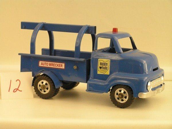 12: 1950s Ohio Art #765 Buckeye Wrecker Truck Toy - Ful
