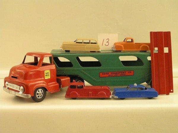 13: 1950s Ohio Art #780 Buckeye Auto Transport Semi-Tra