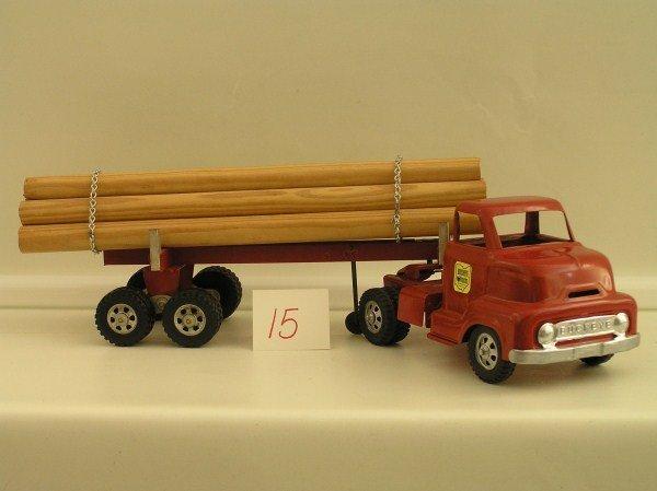 15: 1950-60s Ohio Art #777 Buckeye Log Hauler Semi-Trai