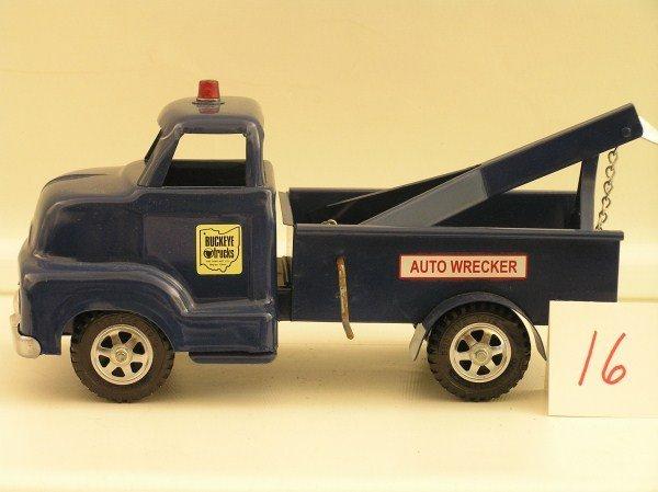 16: 1950-60s Ohio Art Buckeye Auto Wrecker Truck Toy -
