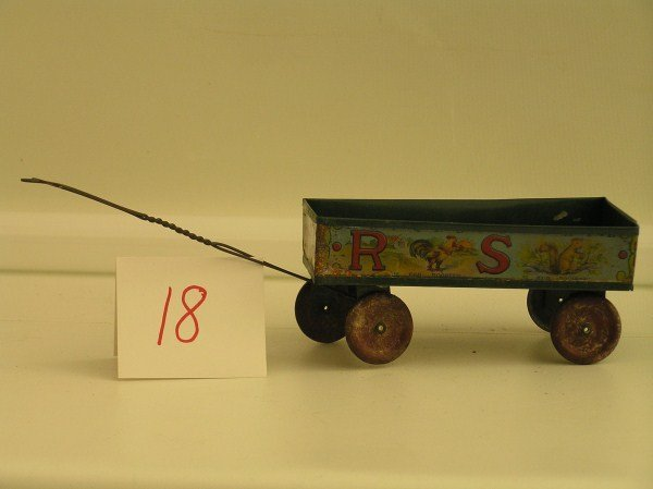18: Early Ohio Art Lithographed ABC Tin Wagon Toy - One