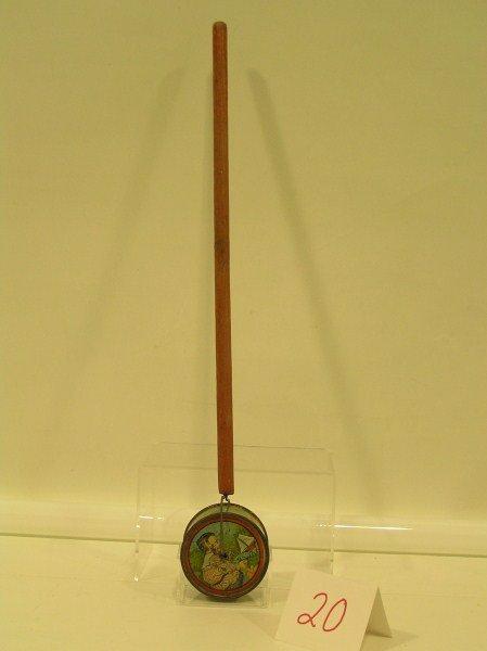 20: Ohio Art Nursery Rhyme Tin Lithographed Push Toy -