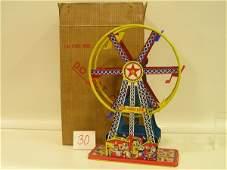 30 1955 Ohio Art I40  Lithographed Tin WindUp Toy F